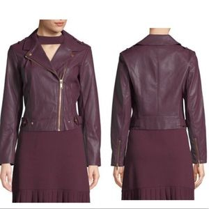 Michael Kors ❤️Faux Leather Moto Jacket NWT